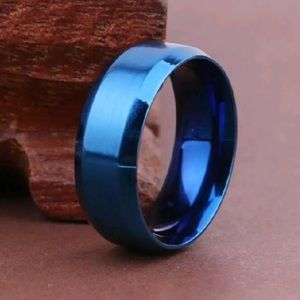 Other - 8mm Stainless Steel Titanium Band Ring Men women